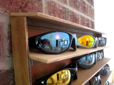 Woodworking - Sunglasses Rack Custom Stand Holder Furniture Display wood working