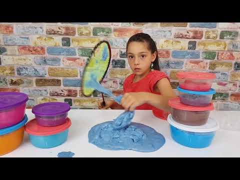 Çeşit Çeşit Slime Kullandık Slime Press Yaptık !! ( SLIME PRESSING )