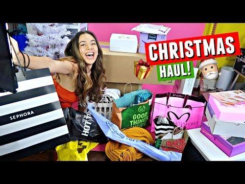 CHRISTMAS HAUL 2017!! Sephora, Patrick Starrr x MAC, Dove Cameron x Bellami & MORE! | Vlogmas Day 7 thumbnail