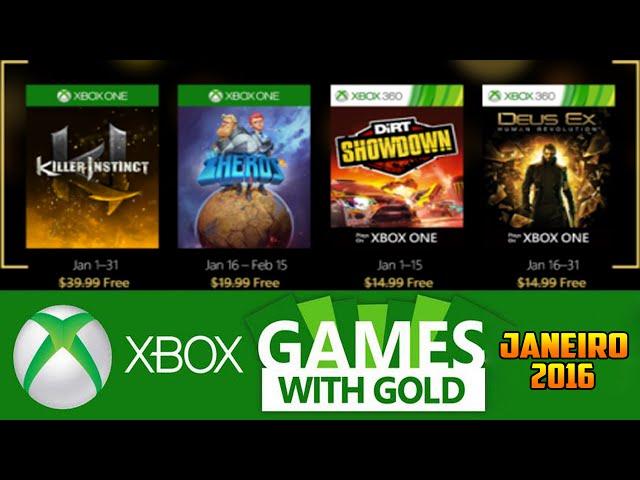 Jogos GrÁtis Xbox Live Gold De Janeiro 2016 (xbox 360 / Xbox One)