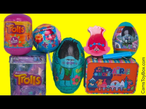 Dreamworks Trolls Surprise Easter Egg Blind Bag Series 2 1 Chocolate Tin Box Poppy Branch Lollipop