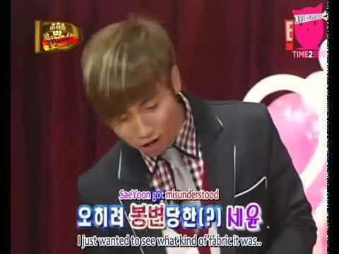 Seunghyun dressed as a girl!