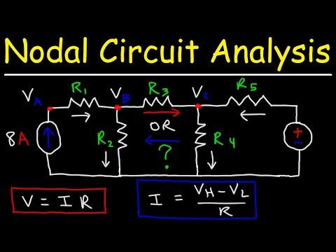 Node Voltage Method Circuit Analysis With Current Sources