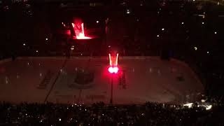Opening Ceremonies at T-Mobile Arena for Western Conference Finals Game 3