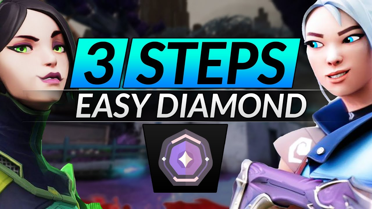3 EASY Steps to RANK UP to Diamond in Valorant - Mechanics, Macro and Abilities - PRO Tips Guide