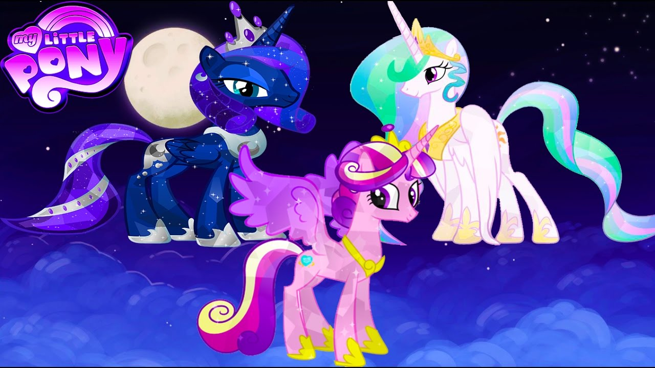 My Little Pony Transform Princess Luna Celestia Cadence Into Crystal