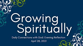 Daily Connections with God: Evening Reflection