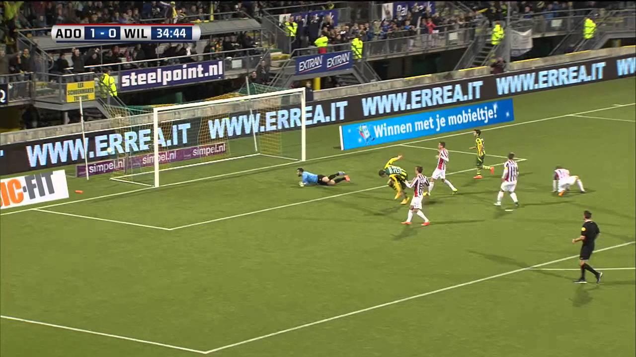 Ado   Willem Ii: Doelpunt Michiel Kramer ADO Den Haag Willem II 2 8