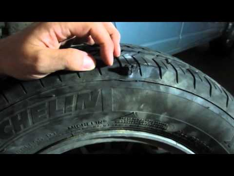 How to repair a flat tire with sidewall damage using th ...