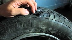 DIY Tire Repair: Fixing sidewall puncture with plug patch kit -screw nail -lasted over 3 years
