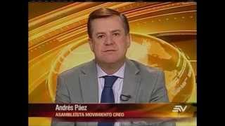 Entrevista a Andrés Páez en Ecuavisa 28 10 2014