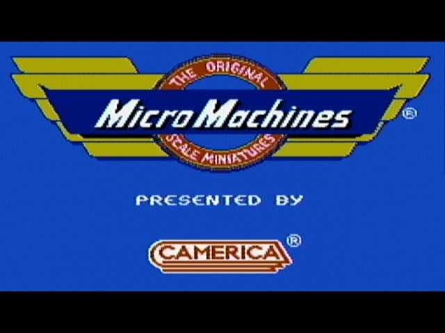Micro Machines - NES Gameplay
