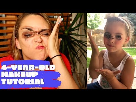 I followed a 4-year-old's makeup tutorial thumbnail