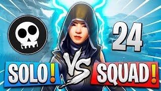"Omg! 24 KILLS SOLO SQUAD WITH THE NEW SKIN ""FATE"" Fortnite: Battle Royale"