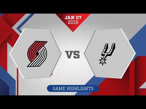 San Antonio Spurs vs. Portland Trail Blazers - January 7, 2018