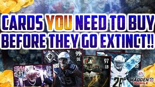 BUY THESE BEFORE THEY'RE GONE!! INSANE MUST WATCH MADDEN MOBILE 17 INVESTMENT/COLLECTION GUIDE!!