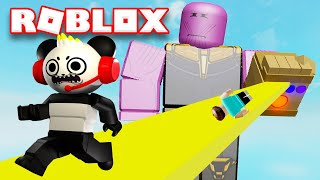 Combo Panda Plays Roblox Escape Thanos Obby!