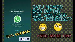 Tutorial Cara Mendaftar 2 Whatsapp Berbeda Dengan 1 Nomor HP Yang Sama Keren Deh
