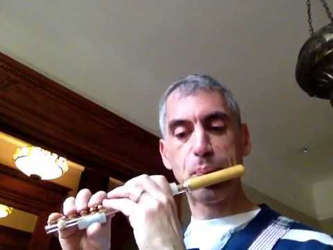 Gary Schocker plays Bach on gold piccolo with boxwood head