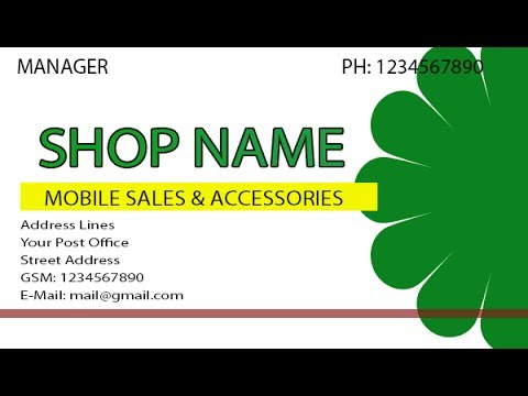 How to make business cards for mobile shop youtube how to make business cards for mobile shop colourmoves