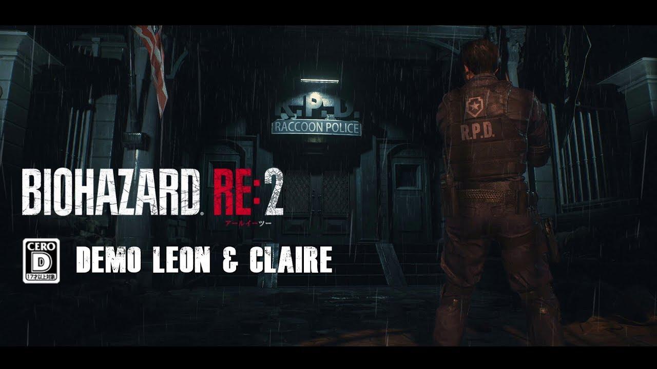 RESIDENT EVIL 2 Remake - Demo Leon & claire - CERO D - TGS 2018