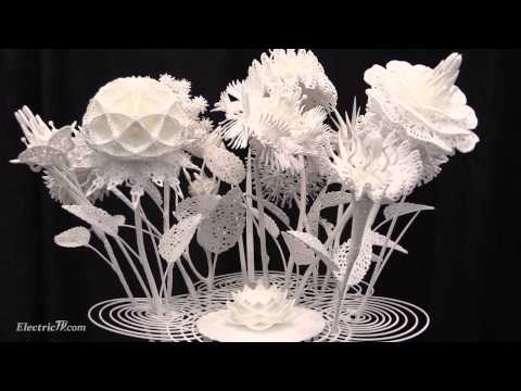 3D Printed Art by Joshua Harker @ 3D Printer World Expo 2015