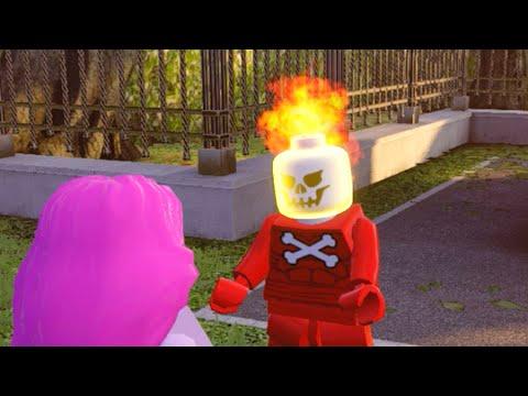 Lego Marvels Avengers Help Blazing Skull Track down a Pyromaniac in D.C.