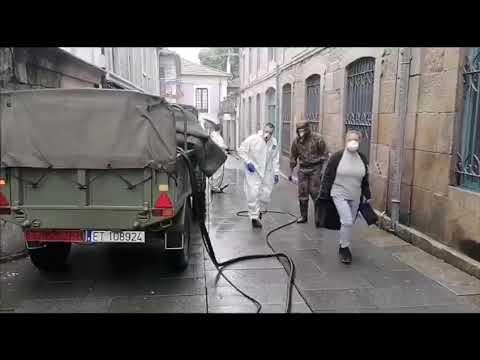 Los trabajos de desinfección llegan al centro de día Saraiva