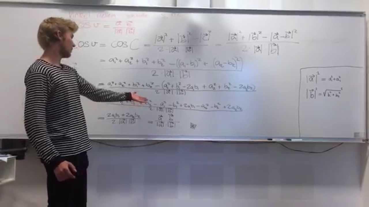 Vinkel mellem vektorer sætning 4.5 side 132