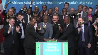 African Mining Delegation closes Toronto Stock Exchange, March 8, 2017