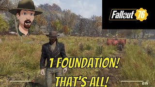 Fallout 76 Base Building- 1 Foundation Base to Hold Everything!