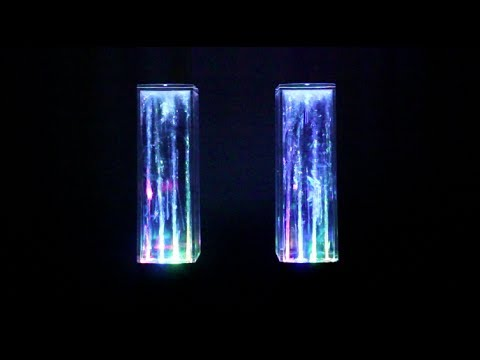 Multi Colored Illuminated Dancing Water Speakers Youtube