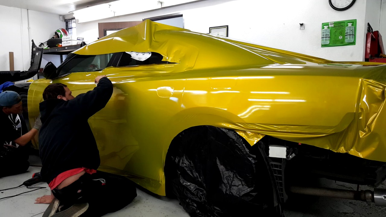 Vinyl Wrap Time Lapse Srt8 Dodge Charger Youtube