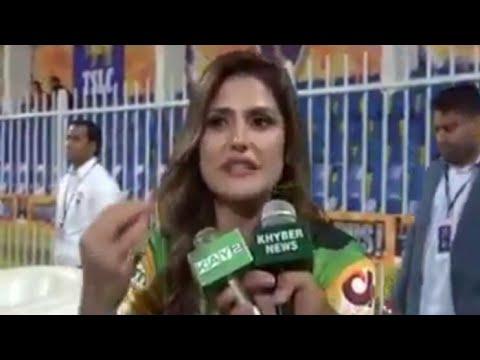 Indian Film Star Zareen Khan Interview in Pashto language