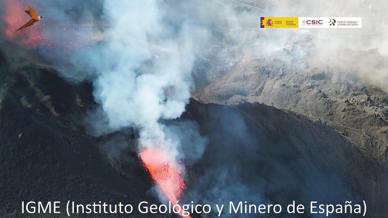 Download Vuelo dron 01(25/9/21) Erupción Cumbre Vieja, La Palma. IGME-CSIC