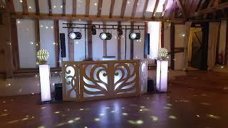 A Wedding DJ at the clock barn supplied by NGB Discos