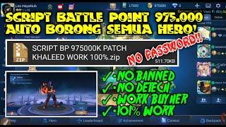 SCRIPT BATTLE POINT 975.000 V.I.P WORK 100% - MOBILE LEGENDS