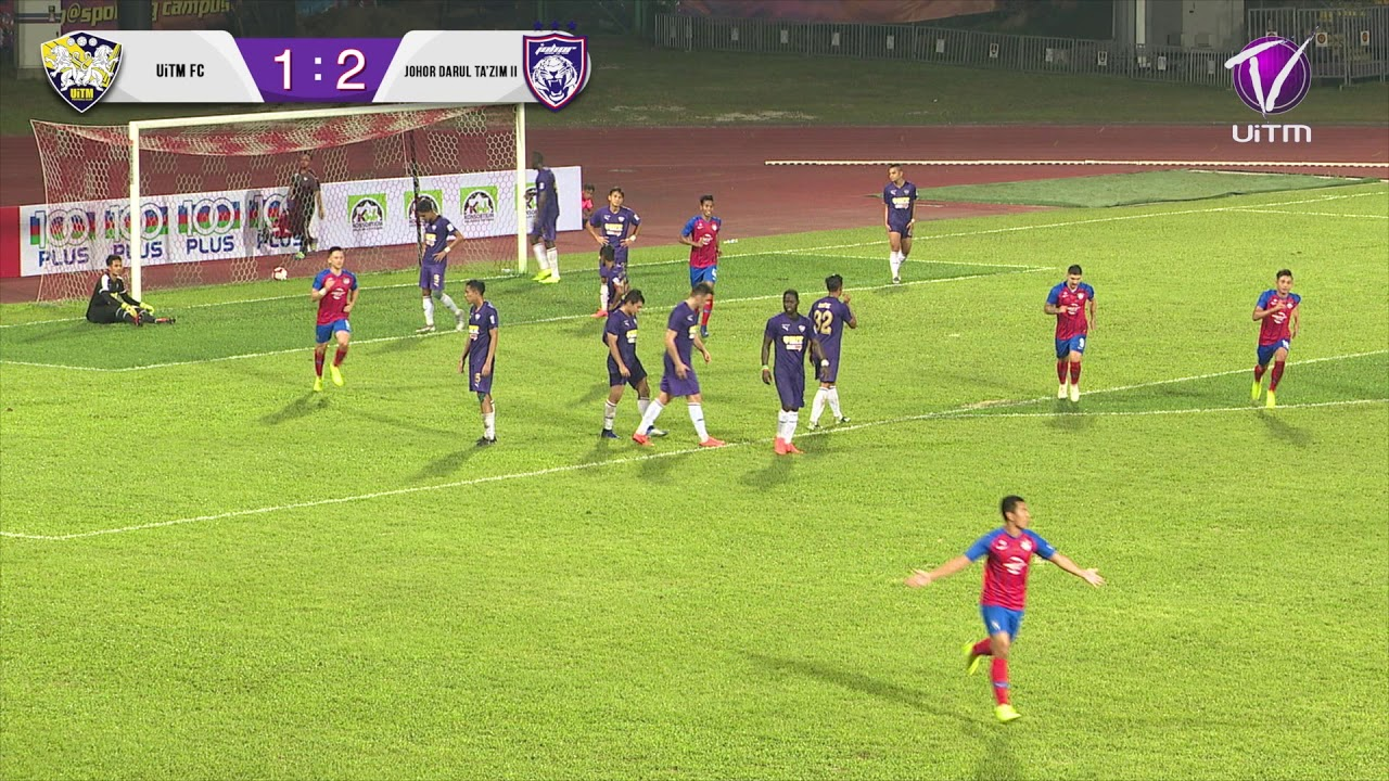 Highlight UiTM FC vs JDT II (1-2) Liga Premier Malaysia 2019