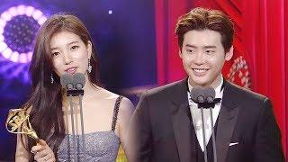 '예지몽 커플' 배수지♡이종석, 베스트 커플상 수상! @SBS 연기대상 1회 20171231