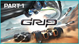 GRIP Combat Racing Campaign Part 1 - Speed Demons | PS4 Pro Gameplay