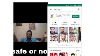 Face app not safe / US report against face app/ face app safe or not #BeingShabzzz