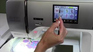 Bernina 770 123 Combining Embroidery Designs on Screen