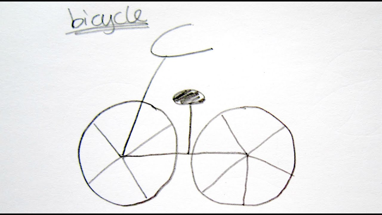 How to draw easy bicycle easy drawing tutorial for for Easy to make sketches
