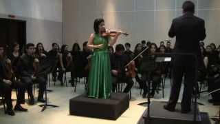 Maria Jose Orlando Matheus, concierto para violin y orquesta de Samue Barber Op.14