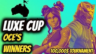 *LUXE CUP* OCEANIA'S WINNERS!! (Day 2, FINALS) - Fortnite Battle Royale