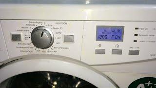 ERROR F04 - Avería Lavadora Fagor (L7812S), Solución.[ Washing Machine Failure, Solution].