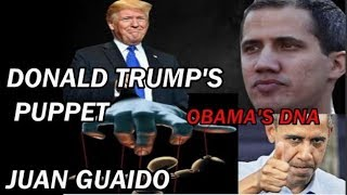Donald Trump's Puppet Juan Guaidó something very strange about this man DNA of Obama?!