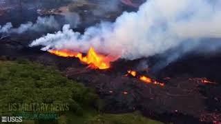 Hawaii's Kilauea Volcano Eruptions Spouting 'eerie' Blue Flames as Methane Gas Ignites  ABC