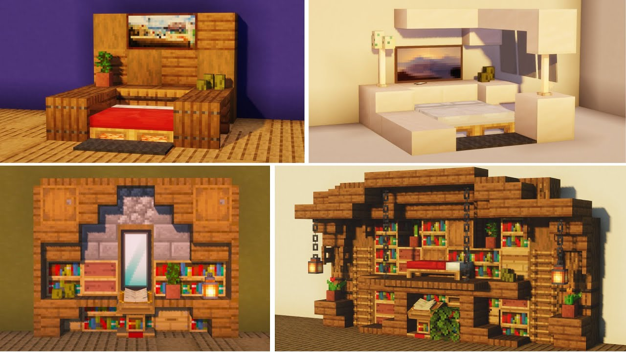 Minecraft: 20+ Bedroom Build Hacks and Ideas [1.16 Nether ...