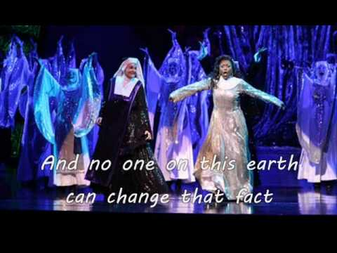 Sister Act Karaoke the musical- No vocals lyrics on screen